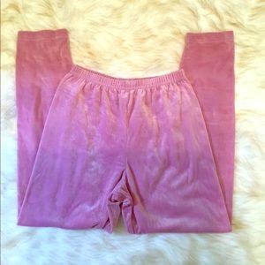 Vintage Partners pink high waist velour legging